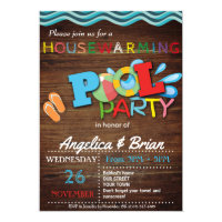 Housewarming Pool Party Invitation