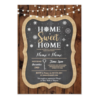 Housewarming Sweet Home Christmas Winter Invite