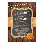 Housewarming Sweet Home Fall Chalk Pumpkin Invite