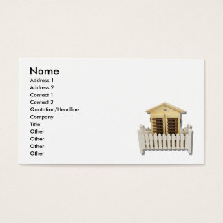 HouseWhitePicketFence082510, Name, Address 1, A... Business Card