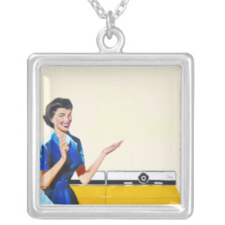 Housewife and New Washer Square Pendant Necklace