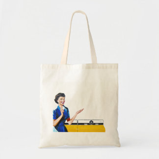 Housewife and New Washer Tote Bag