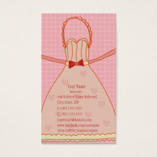 Housewife Apron Funny Gift Business Card