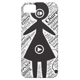 Housewife chores cook and play iPhone 5 cases