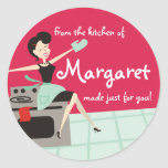 Housewife cooking or baking gift tags stickers