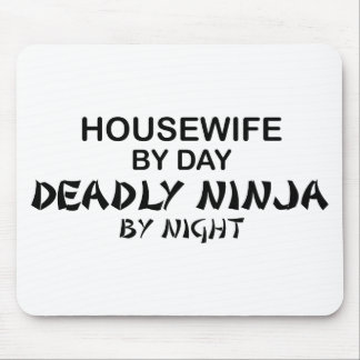 Housewife Deadly Ninja by Night Mouse Mats