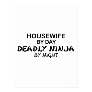 Housewife Deadly Ninja by Night Postcard