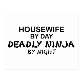 Housewife Deadly Ninja by Night Postcard
