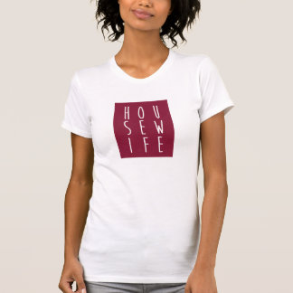 HOUSEWIFE Maroon and White T-Shirt