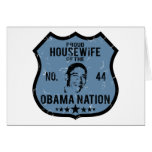 Housewife Obama Nation Greeting Cards