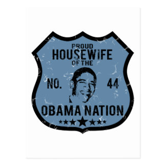 Housewife Obama Nation Postcard