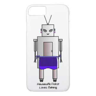 Housewife Robot Loves Baking, Retro Vintage Robot iPhone 8/7 Case