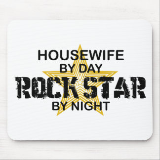 Housewife Rock Star by Night Mouse Pad