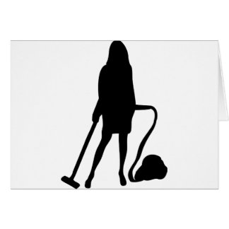 housewife - vacuum cleaner - cleaning card