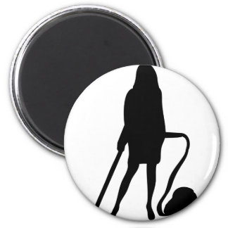 housewife - vacuum cleaner - cleaning refrigerator magnets