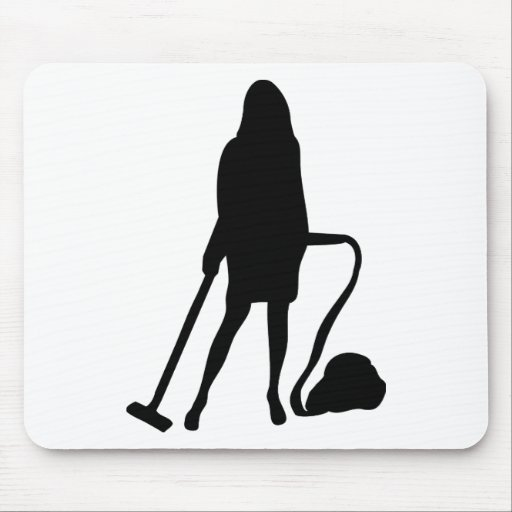 housewife - vacuum cleaner - cleaning mouse mats