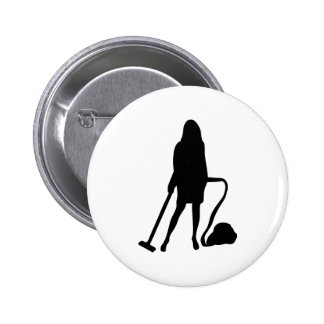 housewife - vacuum cleaner - cleaning pinback button