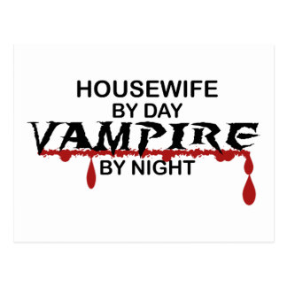 Housewife Vampire by Night Postcard