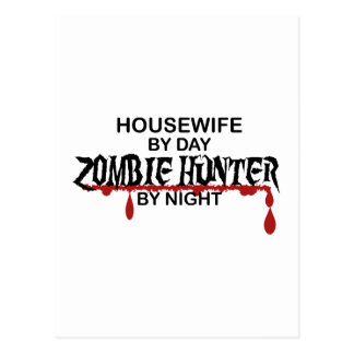 Housewife Zombie Hunter Postcard