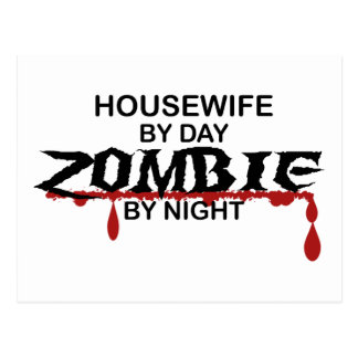Housewife Zombie Postcard