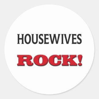 Housewives Rock Round Sticker