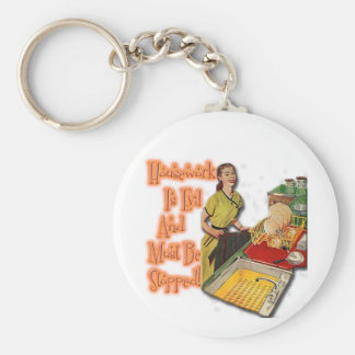 Housework is Evil Keychain