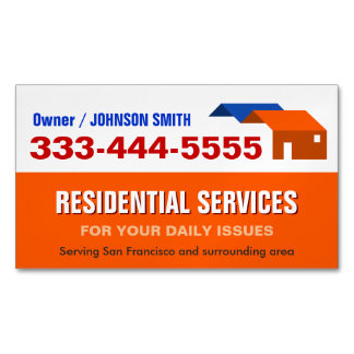 Housing and Residential Services Fridge Magnet Business Card Magnet
