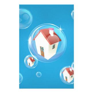 Housing bubble concept stationery design