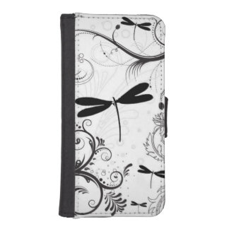 Housing for iPhone and Samsung Galaxy Libélula Wallet Phone Case For iPhone SE/5/5s