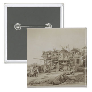Housing for the Poor in the Inner Port of Macao, p Pinback Button