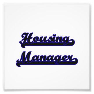 Housing Manager Classic Job Design Photo Print