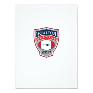 Houston 2017 American Football Big Game Crest Retr Card