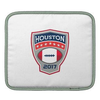 Houston 2017 American Football Big Game Crest Retr Sleeve For iPads
