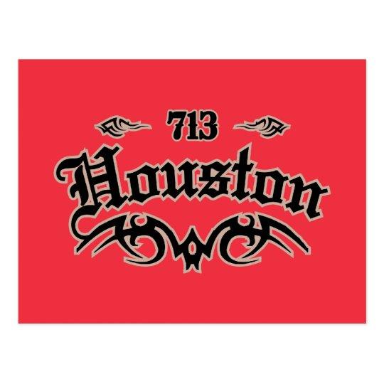 Houston 713 postcard