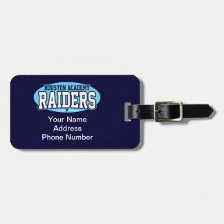 Houston Academy; Raiders Luggage Tag