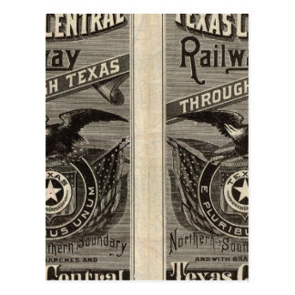 Houston and Texas Central Railway through Texas 2 Postcard