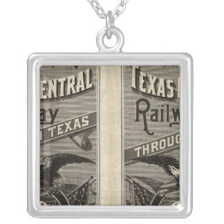 Houston and Texas Central Railway through Texas 2 Silver Plated Necklace