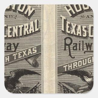 Houston and Texas Central Railway through Texas 2 Square Sticker