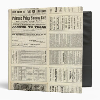 Houston and Texas Central Railway through Texas 3 Ring Binders