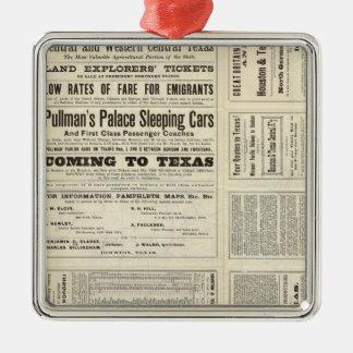 Houston and Texas Central Railway through Texas Metal Ornament