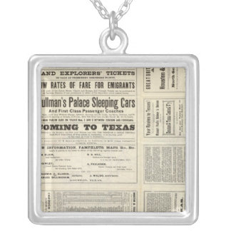 Houston and Texas Central Railway through Texas Silver Plated Necklace