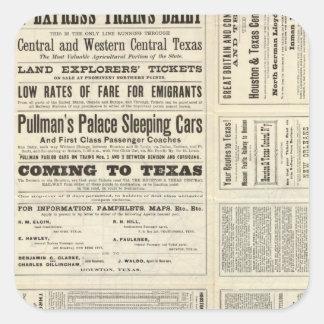 Houston and Texas Central Railway through Texas Square Sticker
