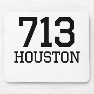 Houston Area Code 713 Mouse Pads