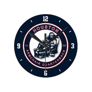 Houston Armchair Quarterback Wall Clock