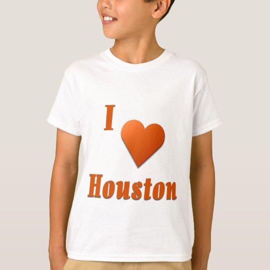 Houston  -- Burnt Orange T-Shirt
