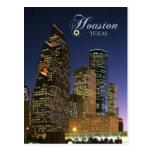Houston céntrica, Tejas en la noche Tarjeta Postal