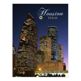 Houston céntrica, Tejas en la noche Tarjetas Postales