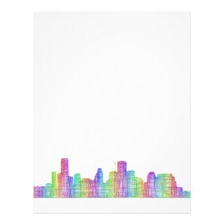 Houston city skyline flyer
