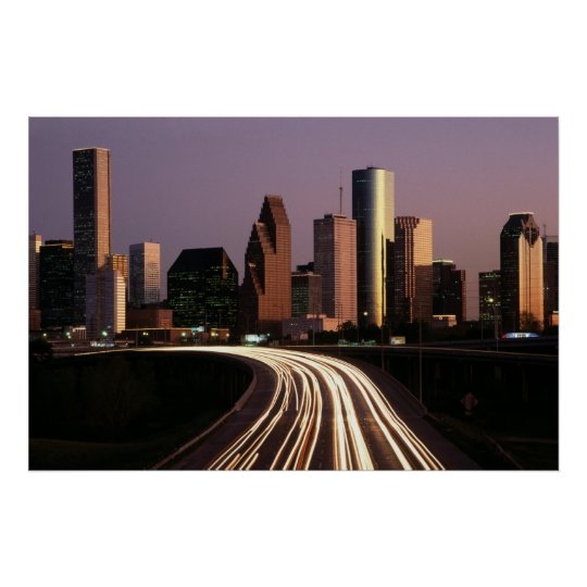 Houston City Skyline Poster from 14.95