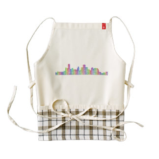 Houston city skyline zazzle HEART apron